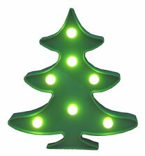 "Christmas Tree Light - Green led On/Off Switch Battery Operated 11""Tall Xmas New"