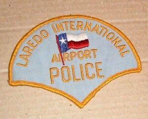 Vintage Laredo International Airport Police Patch - OBSOLETE??