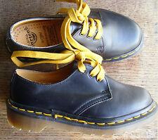 Dr Martens Children's Taille 12 (Eur 30) Chaussures en Cuir Noir Chaussures anglais-Neuf
