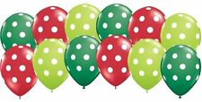 12pc Polka Dot Latex Balloons Christmas Winter Inspired Party Decoration Holiday
