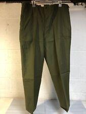 Vtg 1952 OG US Military Korean War Wool Green M-1951 Field Trousers Pants Large