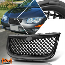 For 99-04 Chrysler 300M Diamond Mesh ABS Plastic Front Hood Bumper Grille Black