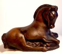 Cute vintage foal made of ceramic resin