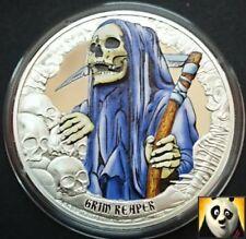 2016 Rare KIRIBATI $5 Five Dollars Death Grim Reaper Silver Proof Coloured Coin