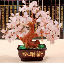 AAA+++ Lucky tree!!! Natural rose crystal gem tree reiki 348g