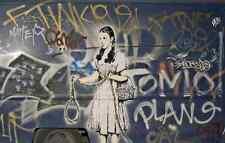 Banksy Dorothy Noose Graffiti A4 Sign Aluminium Metal