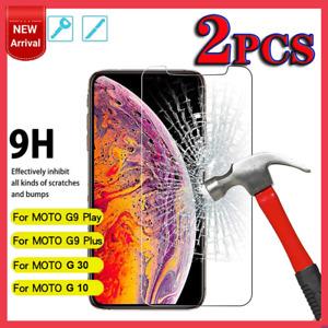 2x Motorola Moto G9 Play Plus G30 G10 Full Cover Tempered Glass Screen Protector