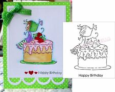 Stamping Bella Stamps Ramona Loves Cake ARS105 Cling Stamp Birthday