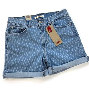 Levi's Women's Blue Rolled Cuff Classic Shorts Size 28 NWT