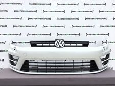 VW GOLF R MK7 2013-2016 FRONT BUMPER IN WHITE COMPLETE WITH GRILL GENUINE [V387]