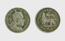 s595_4) MENELIK 1 GERSH  Etiopia - Ethiopia  Silver