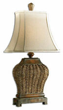 "Raffia Table Lamp Natural 30"" British Inspired Nautical Beachy Coastal Decor New"