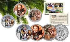 WIZARD OF OZ CHRISTMAS Colorized JFK Half Dollar U.S. 3-Coin Set Tree Ornaments