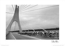 Tour of the Algarve Portugal BRIDGE TO FINISH Cycling Poster Print Graham Watson