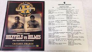 Holyfield vs Holmes Original June 19th, 1992 Championship Official Fight Program