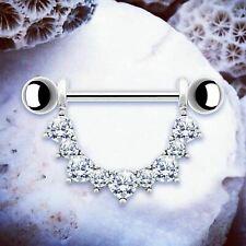 KENDAL Silver Nipple Shields Nipple Bars Nipple Rings Bar Piercing Piercings UK