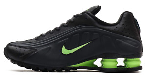 Nike Shox R4 Running Shoes Anthracite Ghost Green Black 104265-055 Men's NEW