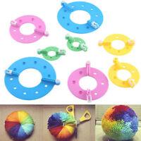 8pcs  4 Sizes Essential Pompom Maker Fluff Ball Weaver Needle Knitting Craft DIY