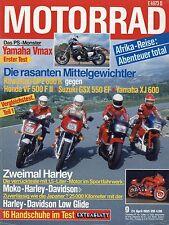 Motorrad 9/85 1985 Hercules Ultra 80 Yamaha Vmax FZ400R Honda VF 500 FII GPZ600R