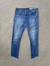 AG ADRIANO GOLDSCHMIED Farrah Skinny Ankle High Rise Jean in Blue 30 R
