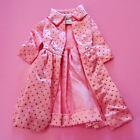 Vintage Barbie Pink Satin With Silver Glitter Pak Coat MINT