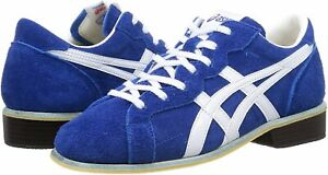 ASICS Weight Lifting Shoes TOW727-4201 Blue / White Leather NEW
