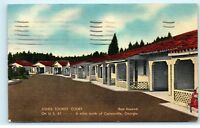 1952 Jones Tourist Court Motel Cartersville Georgia GA old Vintage Postcard A84