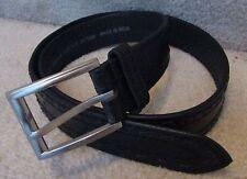 John Deere Brand Mens Black Leather Belt Size 38 #2975520 NWT New