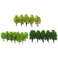 60 Pieces 8cm 1:150 N Scale Plastic Model Trees Railroad Landscape Scenery