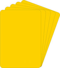 "(600) Yellow Blu-ray PS3 HD-DVD Case Bin Divider Cards 30 Mil 5-1/2"" x 7-3/4"""