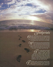 Jesus's Footprints in the Sand Art Print Size 16x20 inches