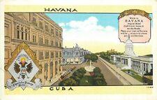 HAVANA, CUBA - HOTEL CAPITOLIO PASAJE - VINTAGE POSTCARD VIEW