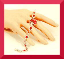 New Red Ruby 925 Sliver Bracelet 8 in FREE SHIP #125