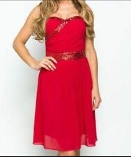 Women's Girl's Bandeau Prom Party Bridesmaid Cocktail Dress Size Medium 10 UK