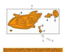 Pontiac GM OEM 05-08 Vibe-Headlight Assembly 88973539