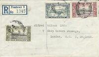 Sierra Leone, Scott #174,180-181, Registered Cover, Freetown to London, England