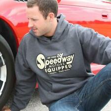 Vintage Speedway Motors Equipped Hoodie Grey, Size Small