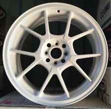 Racing Hart EVO CP10 18 X 7.5 ET 42 4:100 White Set Of 4 Wheels Made In Japan