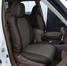 ACURA MDX 2002-2006 BLACK/CHARCOAL S.LEATHER CUSTOM MADE FIT FRONT SEAT COVER