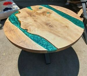 """52"""" Epoxy Resin Wooden Table Top Coffee Table / Center Home Decor"""