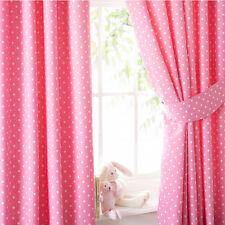 Pink polkadot rideaux 72s
