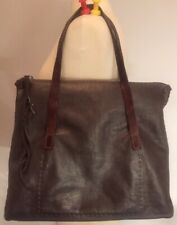 Henry Cuir Beguelin Brown Grained Leather Satchel Tote Hand Bag  1401 d1d4e54f6ecc2