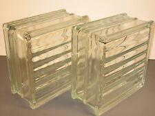 Clear Glass Blocks 7 3/4 x 7 3/4 x 3 7/8 Lot of 2