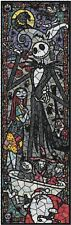 Nightmare Before Christmas Stained Glass Collage DIGITAL Cross-Stitch Pattern