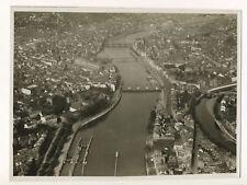 Liège 1935, vue aérienne de la ville - Photographie Vintage Belgique