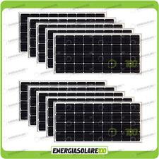 Set 10 Pannelli Solari Fotovoltaici 100W 12V Monocristallino Pmax 1000W Baita Ba