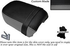 Negro Y Gris Personalizado Fits Yamaha Virago Xv 250 Trasera de piel cubierta de asiento