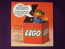 LEGO GUIDE TO NEW SETS 1974  GERMAN / FRENCH LANGUAE VGC FREE UK POST