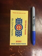 Chicago Cubs 2018 Spring Training Parking Pass Use As A Bookmark!
