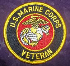 U. S. MARINE CORPS USMC VETERAN EMBROIDERED PATCH SEMPER FI SEW/ IRON ON